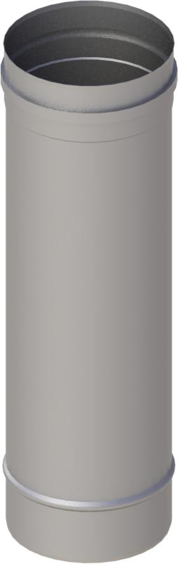 Längenelement 500 mm Ø 120 mm - einwandig Edelstahl MK