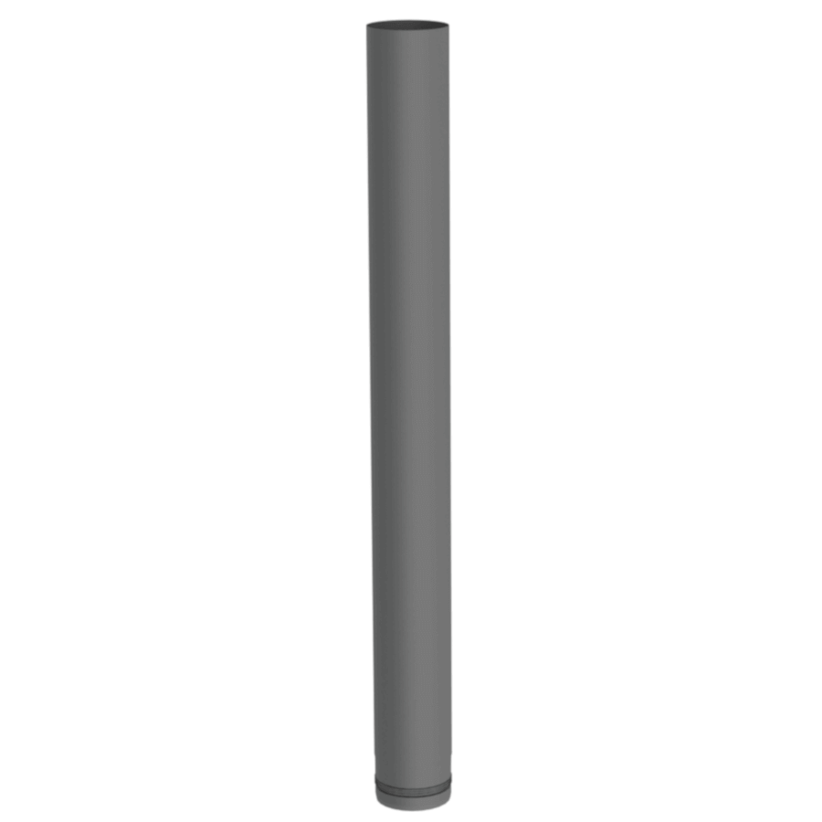 Pelletrohr 1000 mm Ø 80 mm - Edelstahl gussgrau