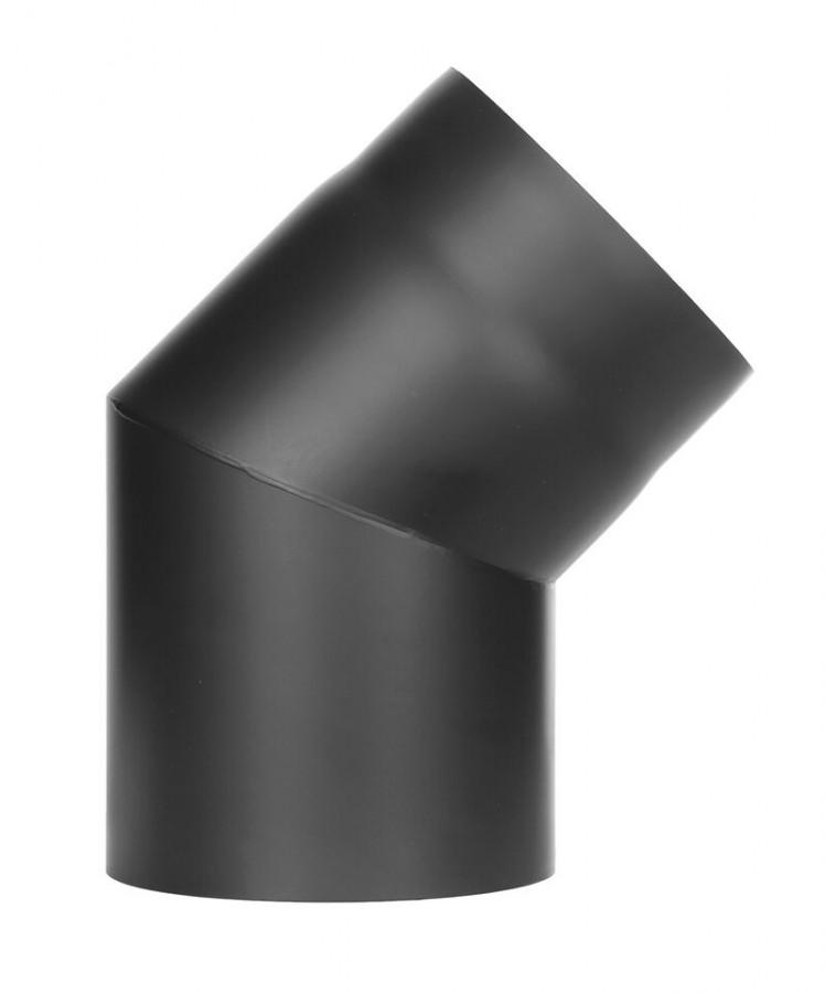 Bogen 45° Ø 160 - 2 mm Stahl schwarz