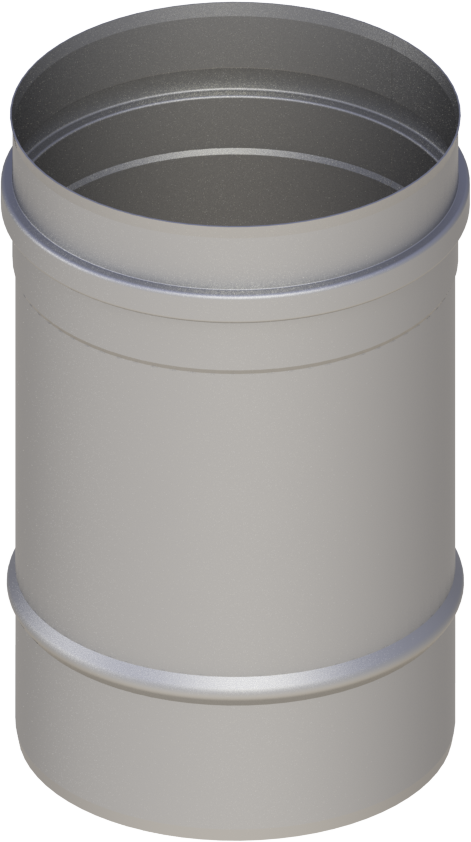 Längenelement 250 mm Ø 120 mm - einwandig Edelstahl MK