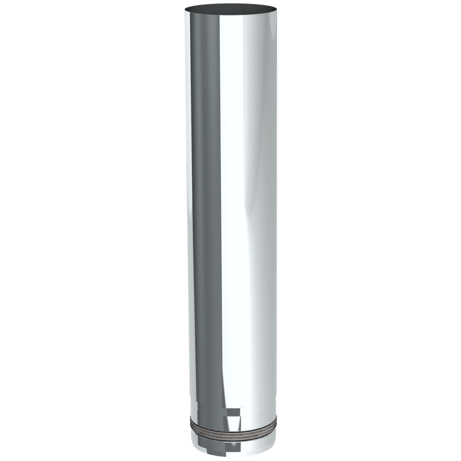 Pelletrohr 500 mm Ø 80 mm - Edelstahl unlackiert