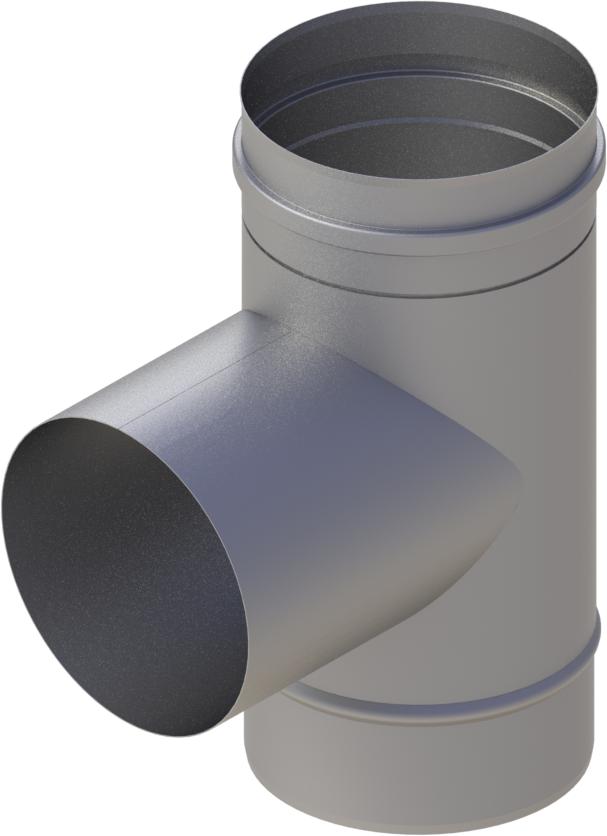 T-Stück 90° Ø 120 mm - einwandig Edelstahl MK
