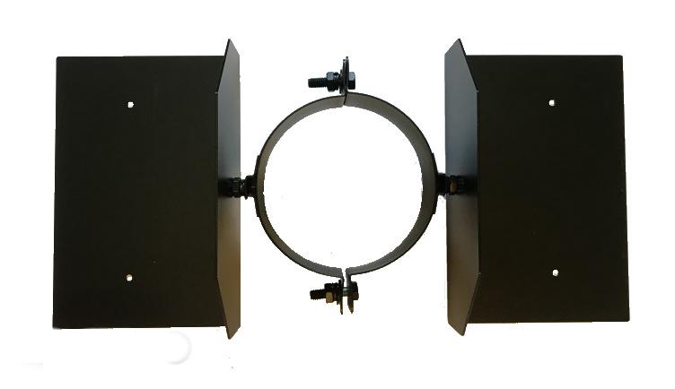 Sparrenhalter schwarz 200 mm - ISOTUBE Plus