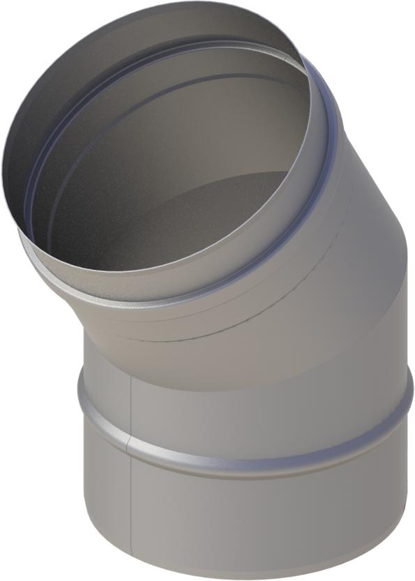 Bogen 30° Ø 120 mm - einwandig Edelstahl MK