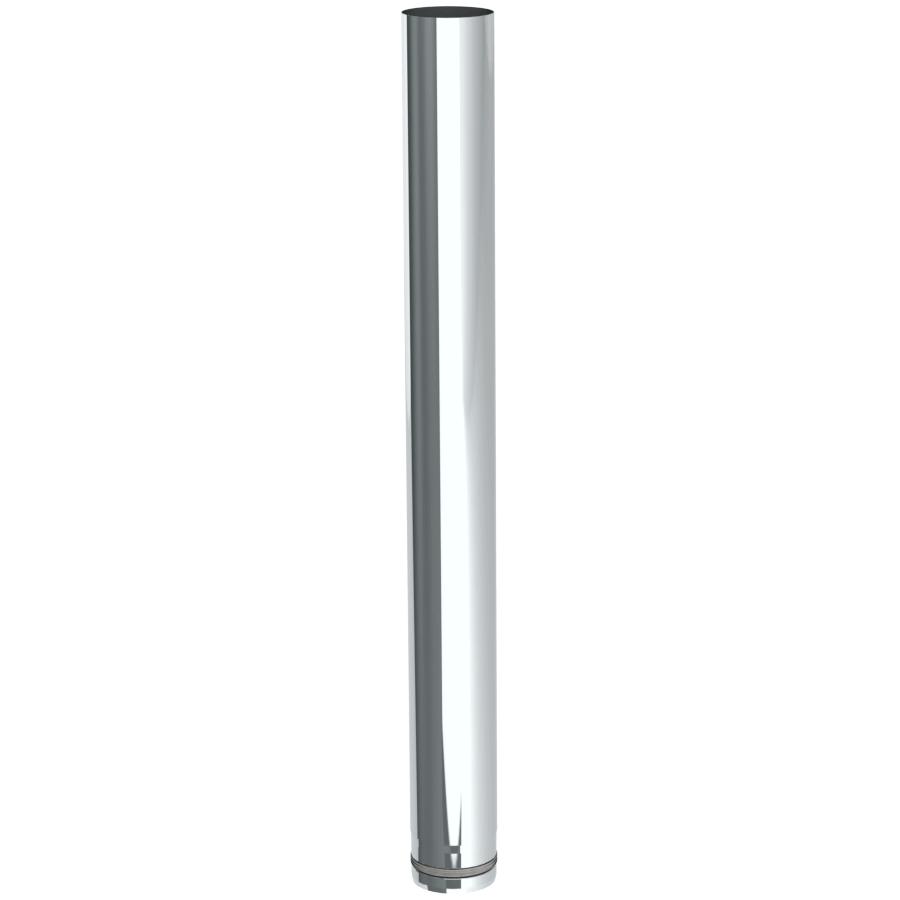 Pelletrohr 1000 mm Ø 80 mm - Edelstahl unlackiert