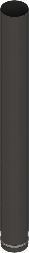 Pelletrohr 1000 mm Ø 80 mm - Edelstahl schwarz