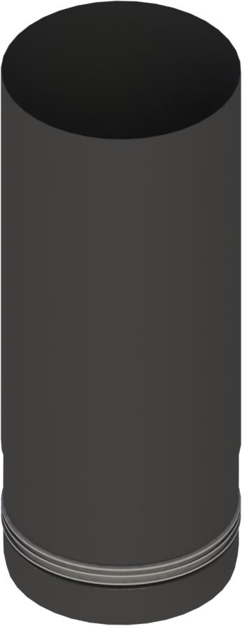 Pelletrohr 250 mm Ø 80 mm - Edelstahl schwarz