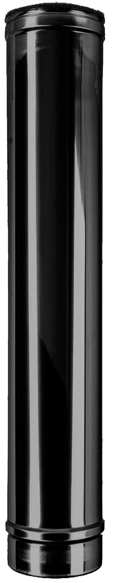 Längenelement 1000 mm DW Ø 150/200 mm schwarz - ISOTUBE Plus