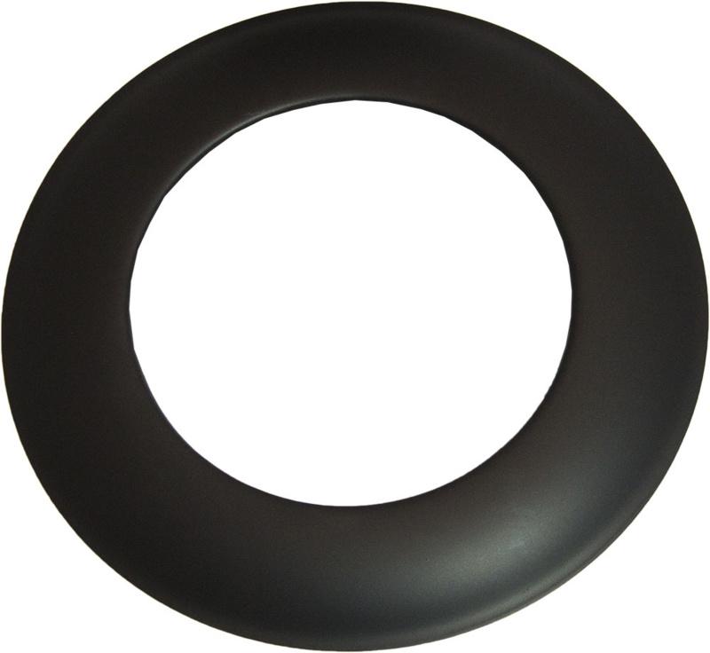 Rosette Ø 160 - 2 mm Stahl schwarz