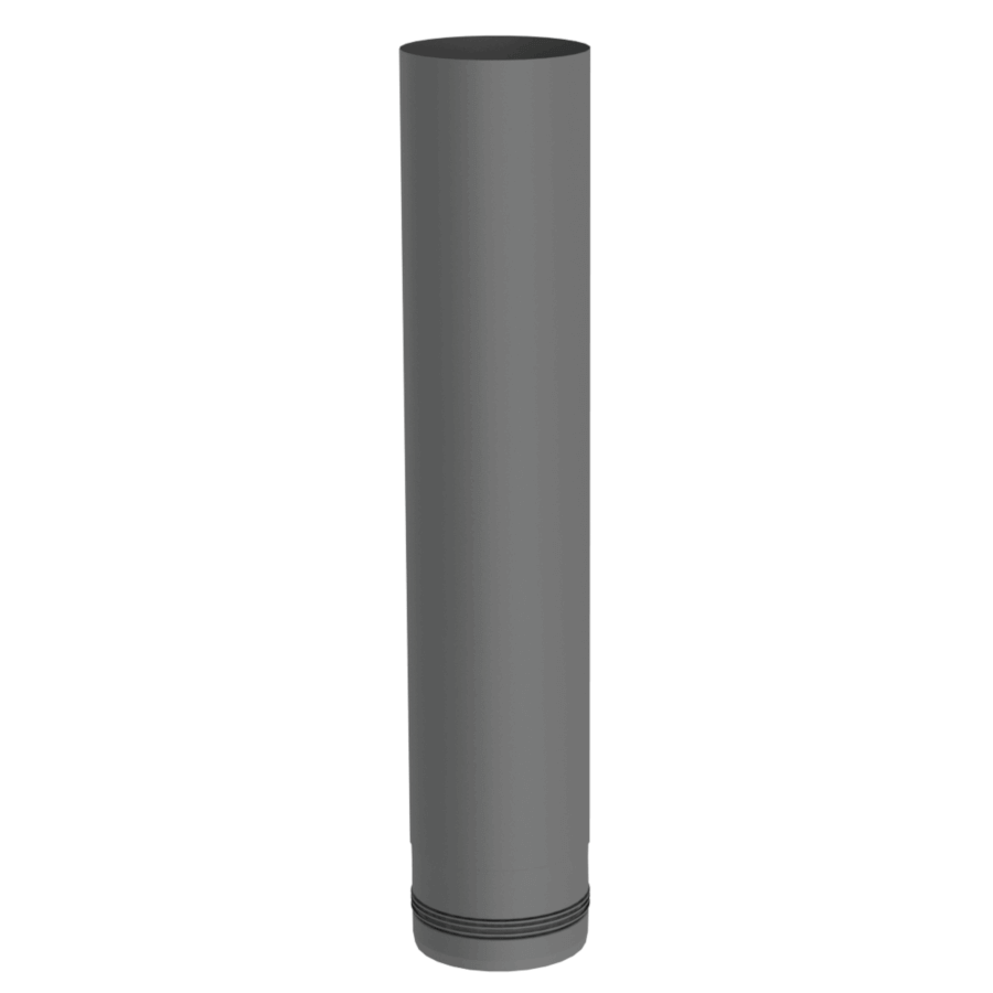Pelletrohr 500 mm Ø 80 mm - Edelstahl gussgrau