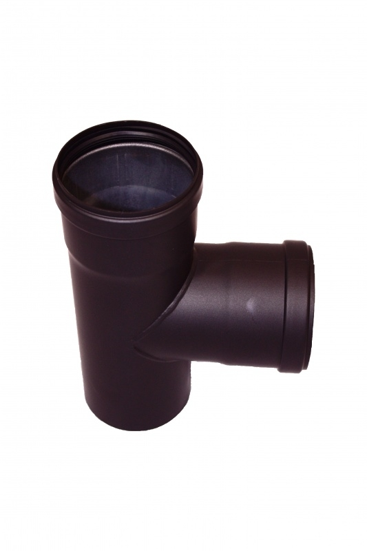 Pelletrohr T-Stück  Ø 80 mm - schwarz