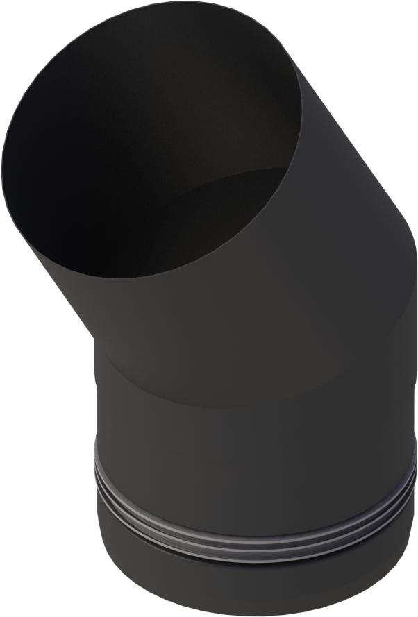 Pelletrohr Bogen 30°  Ø 80 mm - Edelstahl schwarz