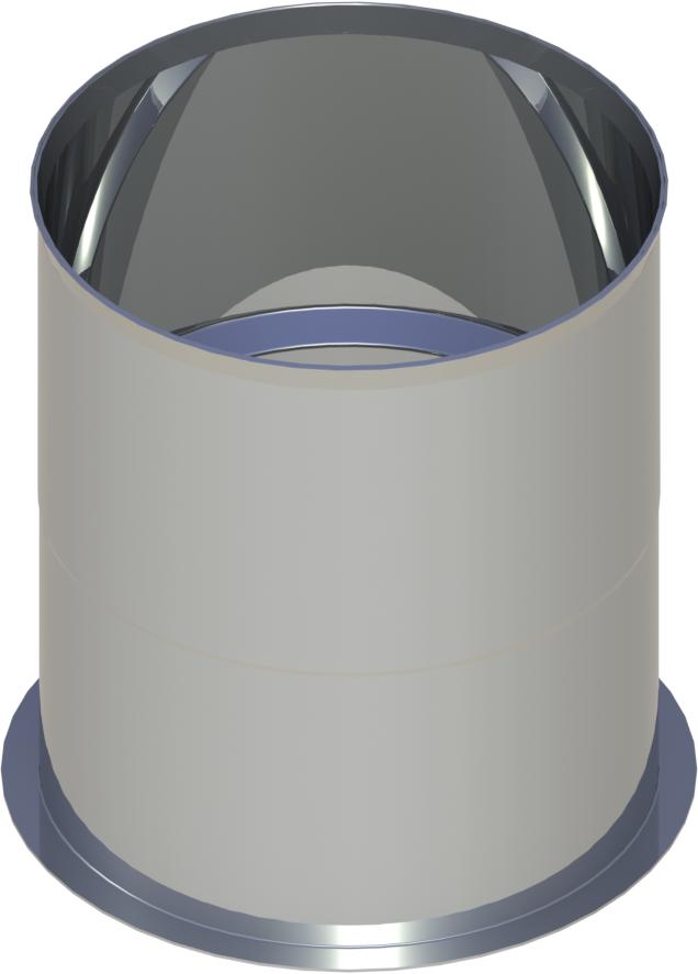Pelletrohr Wandfutter  Ø 80 mm