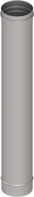 Längenelement 1000 mm Ø 120 mm - einwandig Edelstahl MK